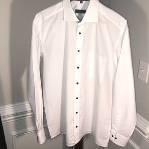 Eterna Comfort Fit Men's Long Sleeve Shirt White